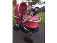 Icandy Peach jogger with raincovers, carrycot and seat