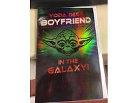 Yoda best boyfriend birthday card