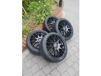 Team dynamics motorsport 18 Inch Alloy Wheels With Tyres 5x115 5x110 multifit