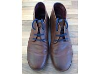 Mens size 12 Pikolinos brown leather boots