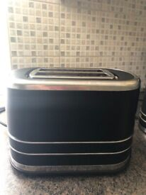 M & S black kettle & matching Toaster