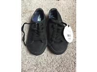 Brand New Baby K Black Shoes - Infant Size 7