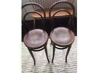 Antique Vintage Bentwood Bistro High Chairs By J&J kohn