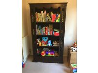 Balinese Dark Wood Bookcase