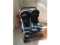 Mamas & Papas black Double pushchair/buggy