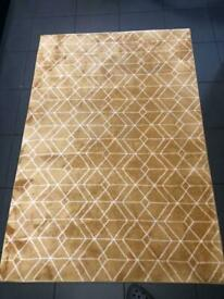 Geometric yellow rug
