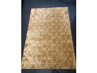 Geometric yellow rug