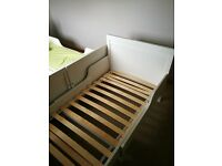 IKEA Extendable White Bed Frame