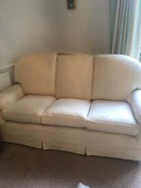 3 piece suite plus footstool and spare set of covers
