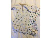 2 Frugi organic cotton night gowns & baby grow