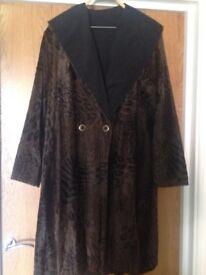ladies coat, reversible, size 14