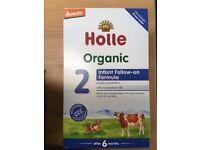 2x 600g HOLLE Organic Cows Milk Formula 6m+