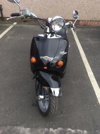 Motorbike helmet with free Aprilia habana Custom Mojito 50cc moped learner legal