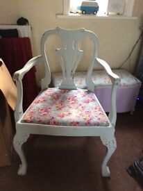Lovely large shabby chic chair with arms