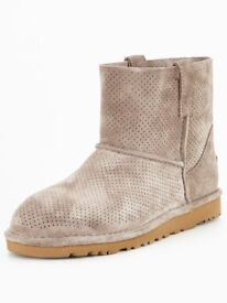 UGG Classic Mini Nnlined Summer Boots Mole UK 4 With Proof Of Purchase BNIB