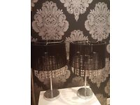 NEXT HOME PAIR LARGE CHANDELIER BEADED TABLE LAMPS RRP £120