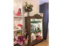 Vintage Wardrobe with built in LED lights for display (also has doors) (restored) for home or shop
