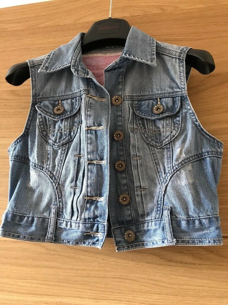 Two denim (blue denim and white) jackets, New Look size 10