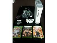 xbox 360 4 games and leads.good condition.