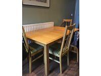Marks and Spencer light oak shaker style extending table