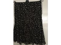 Black and Honey coloured skirt
