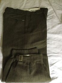 Barbour plus twos trousers new , never used.