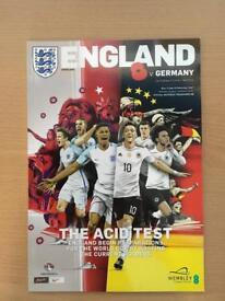 England vs Germany Match Programme 2017