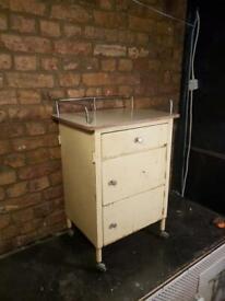 Vintage Metal Dentists / Medicine Cabinet