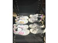 4 pairs of Adidas trainers