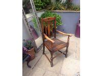 Sold oak antique vintage carver chair