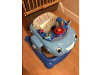 Blue Car Baby Walker
