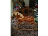 ROCKING HORSE WITH REMOVABLE ROCKER IF REQUIRED
