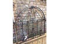 Metal vintage garden gate