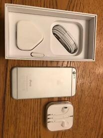 Silver iPhone 6 16GB locked to 02