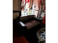 Black 2 seater sofa vgc