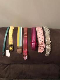 Job lot of 14 belts. Will sell separately also