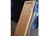 Solid wood doors with hinges and handles