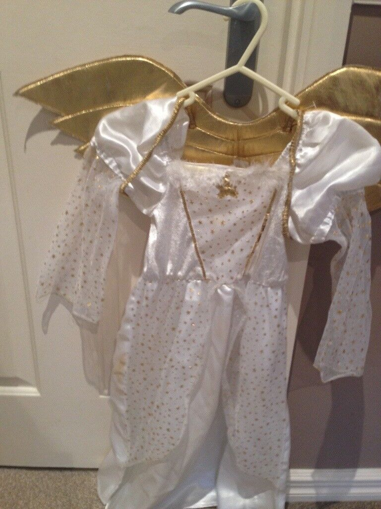 tesco childs angel outfit age 5-6 years