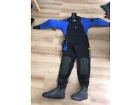 Typhoon Drysuit size M boots size 8