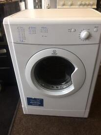 White indesit 7kg dryers good condition with guarantee