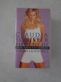 Claudia Schiffer – Perfectly Fit – Volume 1 & 2 – upper and lower body workouts – VHS video