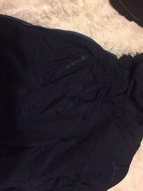 Dark navy twisted faith jacket in a large size