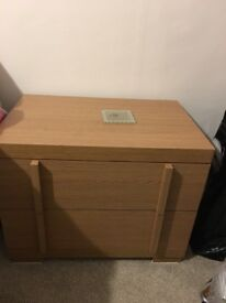 Pair or bedside tables/drawers