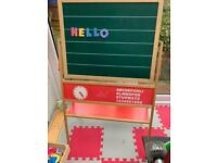 Chalk magnetic board with magnetic letters