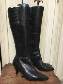 NINE WEST LEATHER BOOTS SIZE 7