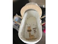 Beige Moses basket and stand