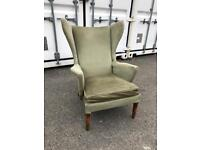 Vintage Retro Parker Knoll winged Armchair.
