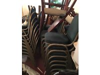 Banquet stacking chairs green