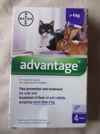 Advantage - Flea treatment for Cats or Rabbits over 4Kg