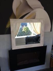 Large shabby mirror